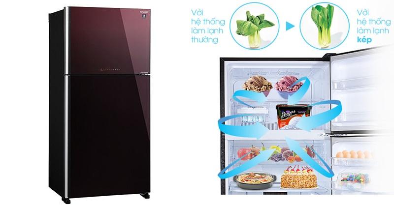 Làm lạnh kép Hybrid Cooling giúp hơi lạnh lan tỏa đồng đều, hiệu quả