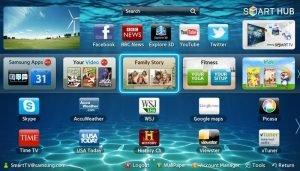 Giao diện Tizen trên smart tivi Samsung
