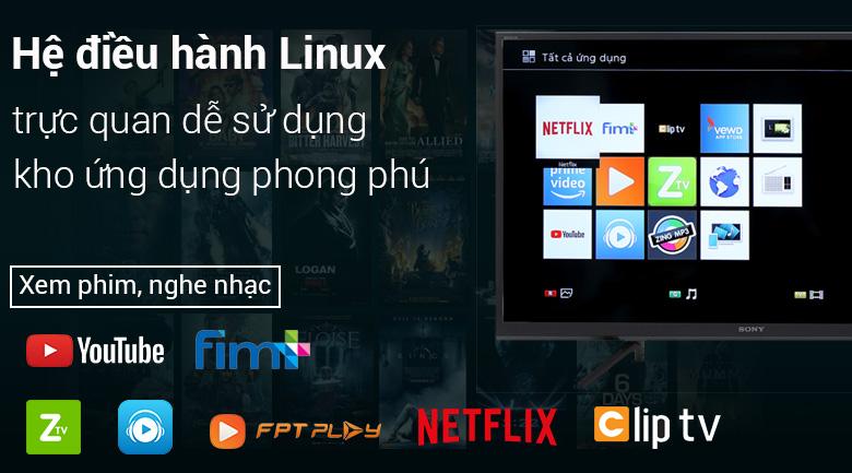 Hệ điều hành Linux trên Smart Tivi Sony 32 inch KDL-32W610F