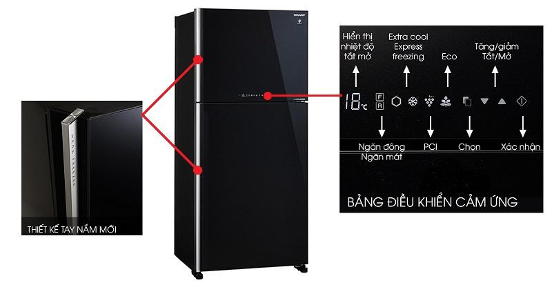 Tủ lạnh có thiết kế sang trọng, dung tích lớn, phù hợp cho gia đình đông thành viên