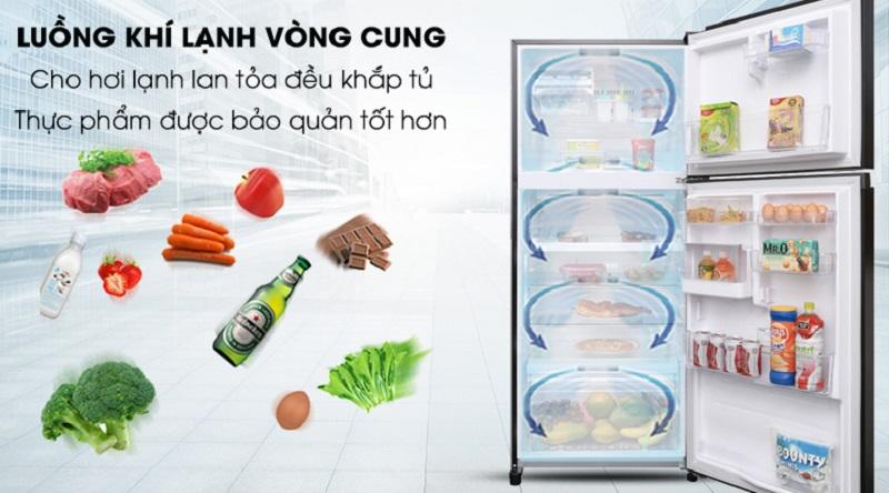 Làm lạnh đồng đều cho thực phẩm với hệ thống làm lạnh vòng cung - Tủ lạnh Toshiba Inverter 359 lít GR-AG41VPDZ XK1