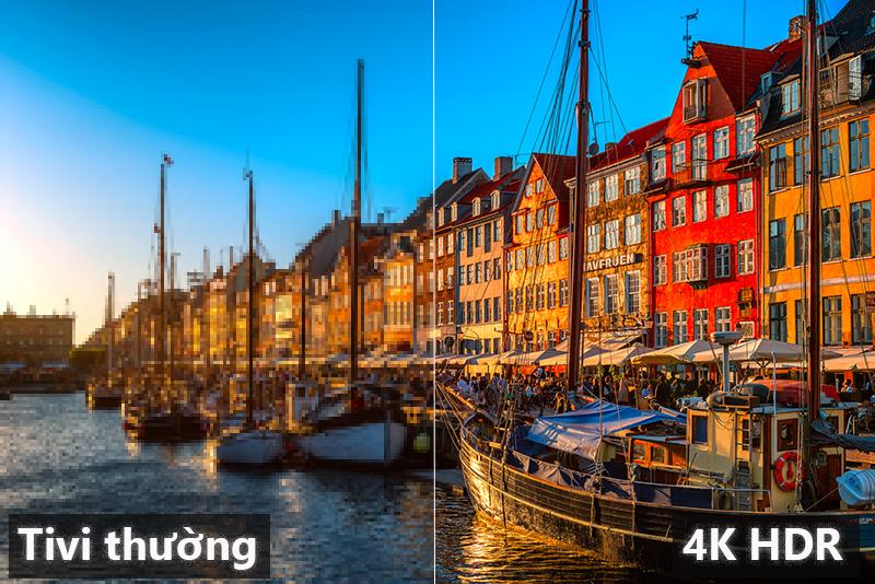 Độ phân giải 4k so với FHD Smart Tivi Samsung 43 inch UA43NU7100