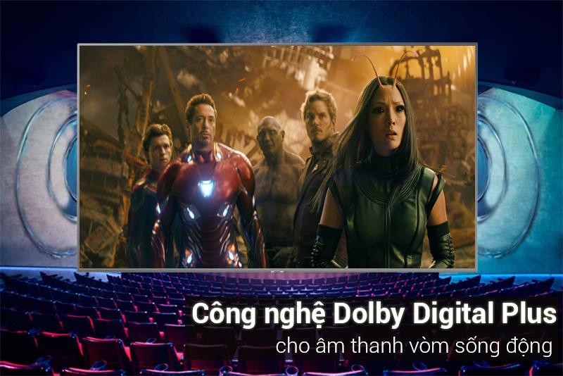 Công nghệ âm thanh Dolby Digital Plus cho âm thanh sống động Tivi Samsung 4K 50 inch UA50NU7400