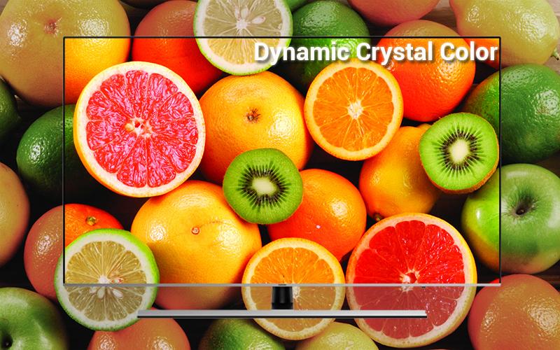 Công nghệ Dynamic Crystal Color trên Smart Tivi Samsung 4K 65 inch UA65NU8000