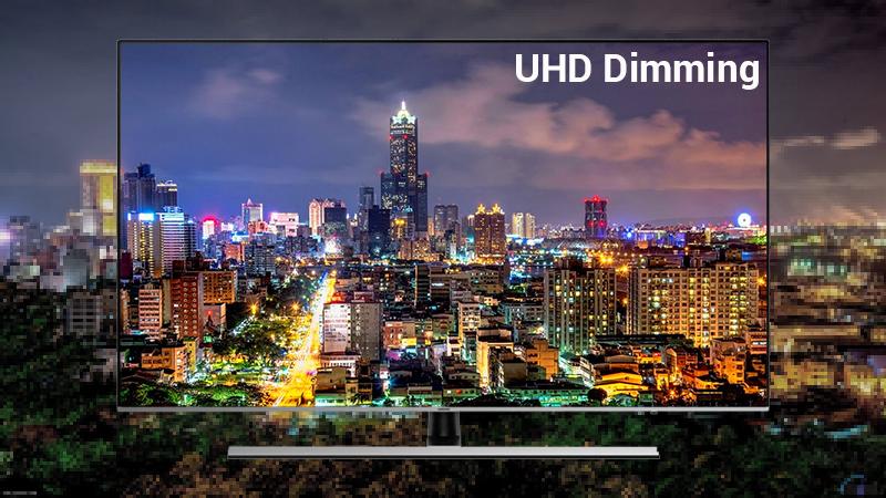 Công nghệ UHD Dimming trên Smart Tivi Samsung 4K 65 inch UA65NU8000