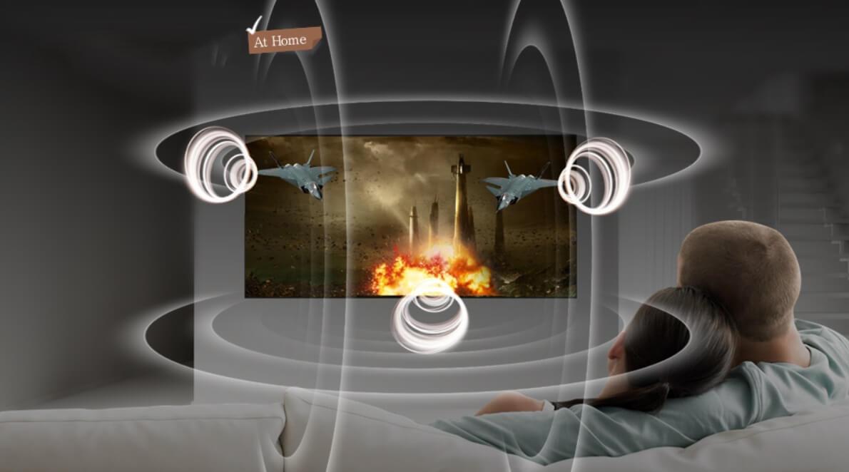 Công nghệ âm thanh vòm Dilby Digital Plus trên Smart Tivi Samsung 4K 65 inch UA65NU8000