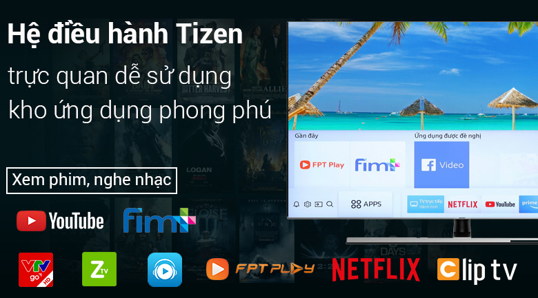 hệ điều hành Smart Tivi Samsung 4K 82 inch UA82NU8000