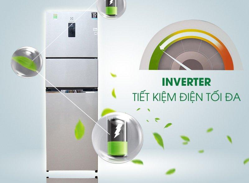 tủ lạnh electrolux 3 cửa inverter