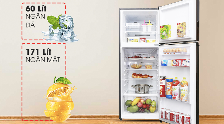 Dung tích đáp ứng tốt nhu cầu sử dụng - Tủ lạnh Mitsubishi Electric Inverter 231 lít MR-FV28EM-BR-V