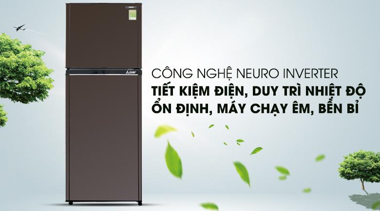 Tiết kiệm điện hơn với công nghệ Neuro Inverter - Tủ lạnh Mitsubishi Electric Inverter 231 lít MR-FV28EM-BR-V