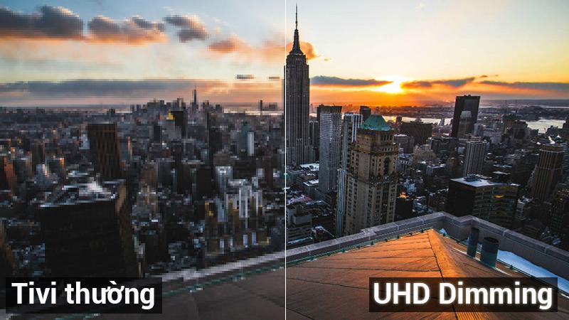 Công nghệ UHD Dimming trên Tivi Samsung 4K 55 inch UA55NU7100