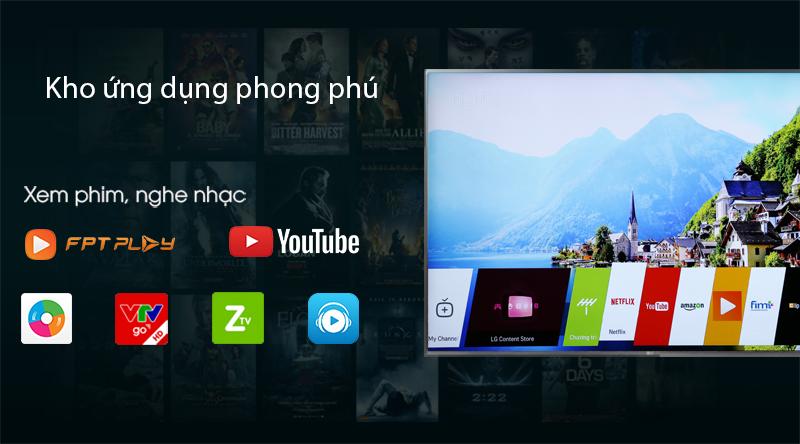 Kho ứng dụng phong phú-Smart Tivi LG 50 inch 50UK6540PTD