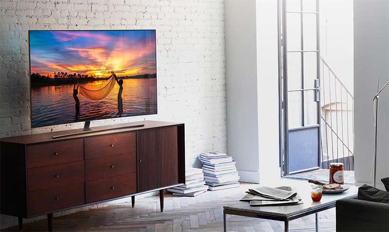 Thiết kế sang trọng, tinh tế trong mọi góc nhìn với tivi Samsung 55 inch QA55Q7FN