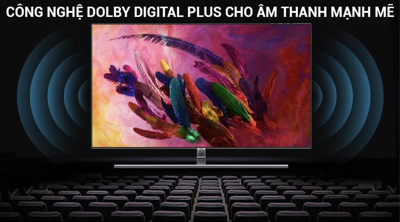 Công nghệ âm thanh Dolby Digital Plus cho âm thanh mạnh mẽ với tivi Samsung 55 inch