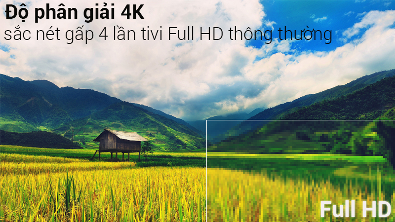 Độ phân giải 4K sắc nét trên Smart Tivi Samsung 4K 43 inch UA43NU7400