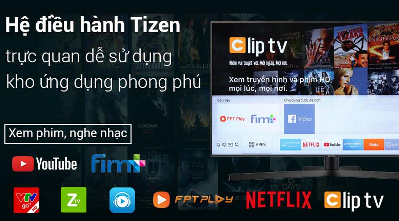 Hệ điều hành Tizen trên Smart Tivi Samsung 4K 43 inch UA43NU7400