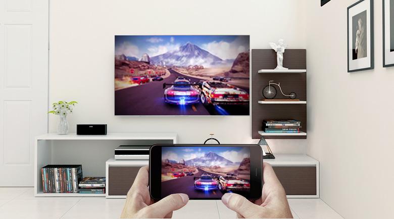 Công nghệ Screen Mirroring của Android Tivi Sony 4K 43 inch KD-43X8500F/S