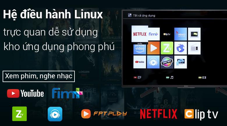 Hệ điều hành Linux trên Smart Tivi Sony 4K 55 inch KD-55X7000F