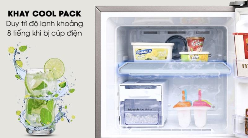 Giữ lạnh cho thực phẩm khi mất điện với ngăn lạnh Cool Pack - Tủ lạnh Samsung Inverter 299 lít RT29K5532DX/SV