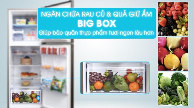 Ngăn chứa Bigbox bảo quản giữ ẩm cho rau củ quả - Tủ lạnh Samsung Inverter 299 lít RT29K5532DX/SV