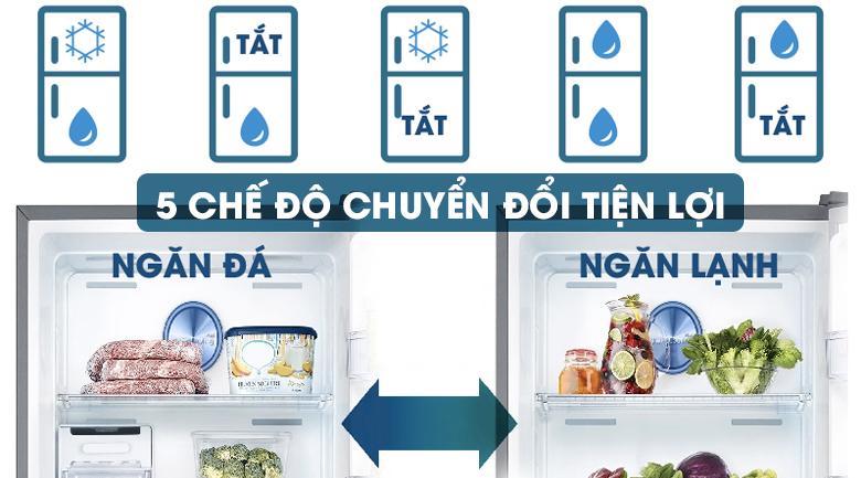 5 chế độ chuyển đổi tiện lợi - Tủ lạnh Samsung Inverter 320 lít RT32K5532S8/SV