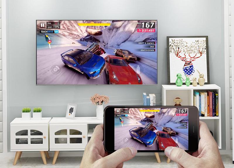 Smart Tivi QLED Samsung 4K 55 inch QA55Q6FN - Screen Mirroring