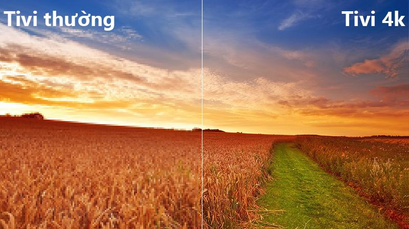 công nghệ 4k Smart Tivi Cong Samsung 55 inch UA55NU8500