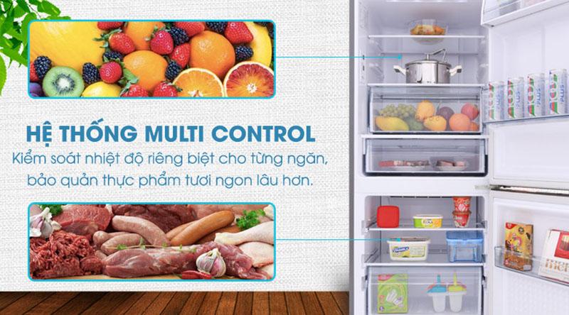 Hệ thống Multi Control-Tủ lạnh Panasonic Inverter 255 lít NR-BV289QSV2