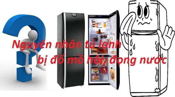 Tủ lạnh bị đọng nước (đổ mồ hôi)