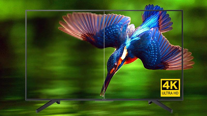 Độ phân giải 4K siêu nét gấp 4 lần tivi Full HD thông thường