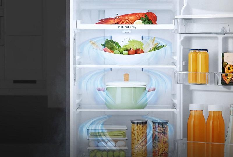Hệ thống luồng khí lạnh đa chiều luân chuyển đến mọi nơi trong tủ