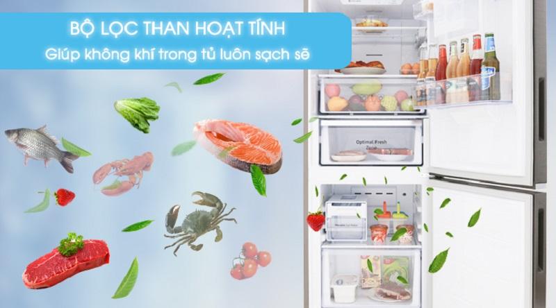 Lọc sạch không khí với bộ lọc than hoạt tính - Tủ lạnh Samsung Inverter 276 lít RB27N4170S8/SV