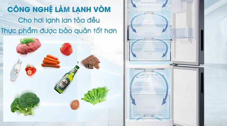 Công nghệ làm lạnh dạng vòm - Tủ lạnh Samsung Inverter 276 lít RB27N4180B1/SV