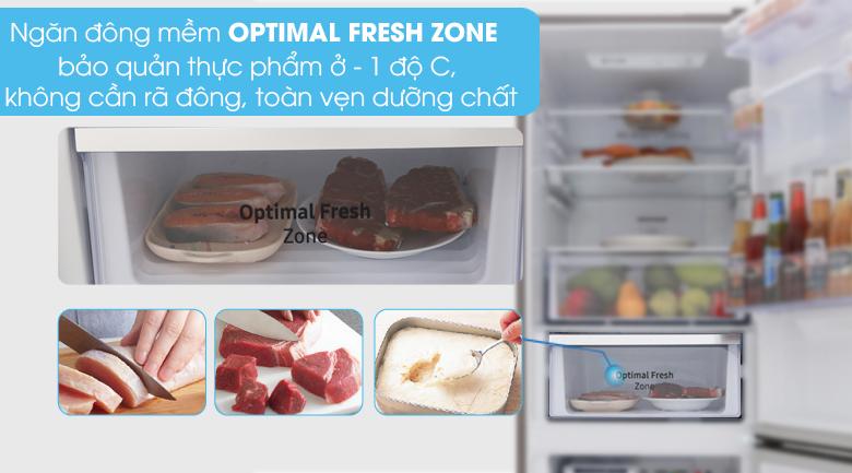 Ngăn đông mềm Optimal Fresh Zone - Tủ lạnh Samsung Inverter 307 lít RB30N4170S8/SV