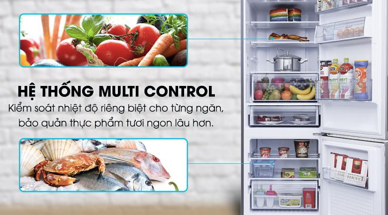 Hệ thống Multi Control kiểm soát nhiệt độ riêng của từng ngăn tủ - Tủ lạnh Panasonic Inverter 290 lít NR-BV329QSV2