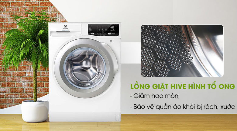 Lồng giặt HIVE - Máy giặt Electrolux Inverter 8 kg EWF8025CQWA