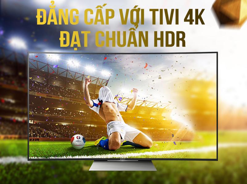 Chất lượng hiển thị hoàn hảo với tivi Sony màn hình cong 4k 55s8500d
