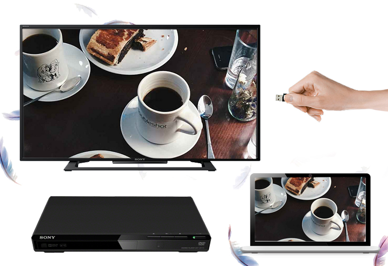 Tivi Sony 40R350C - Khả năng kết nối đa dạng với các thiết bị ngoài như laptop, đầu DVD,…
