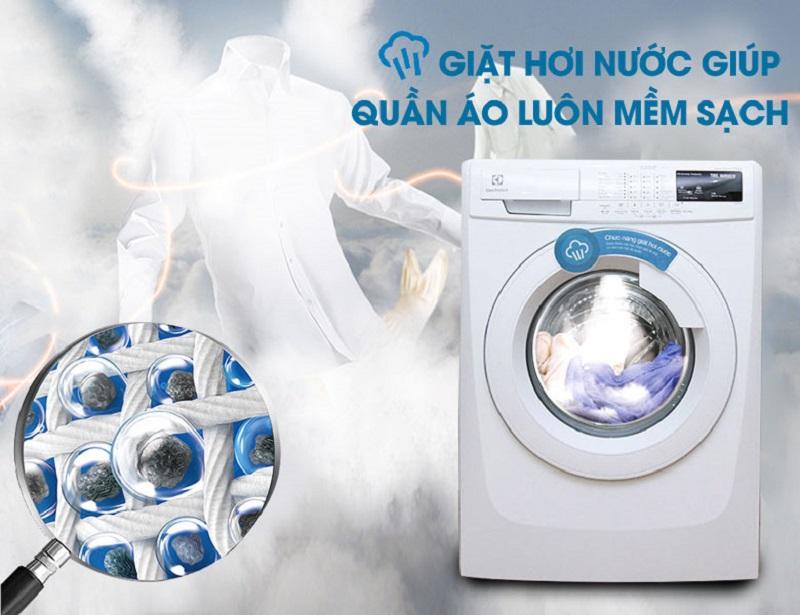 Bảo vệ sức khỏe nhờ chế độ giặt hơi nước.