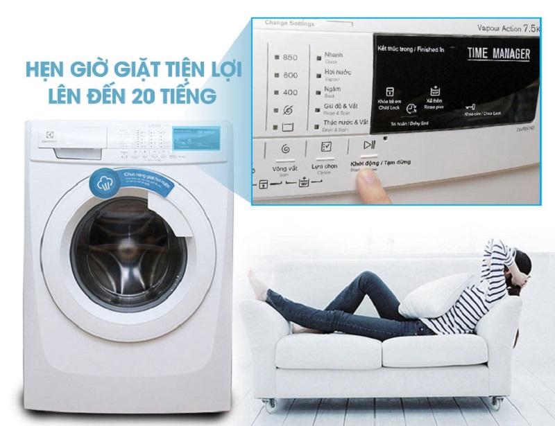 Tính năng hẹn giờ ấn tượng của máy giặt EWF85743