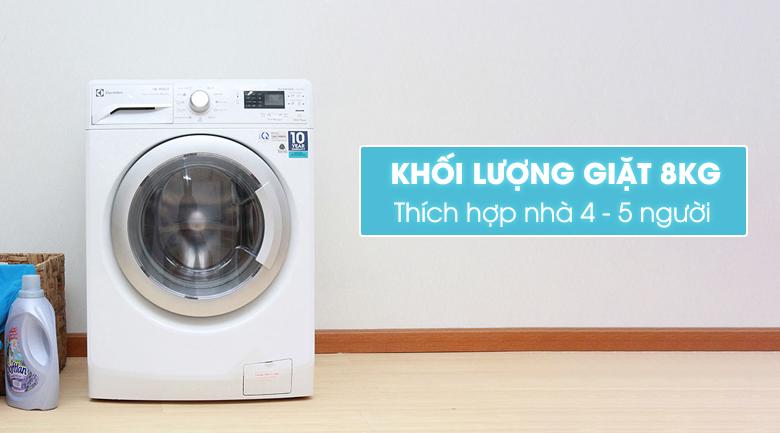 Thiết kế trang nhã, thanh lịch của máy giặt sấy Electrolux 8 kg EWW12842