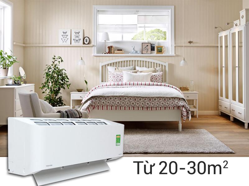 Toshiba RAS-H18S3KS-V công suất 2 HP phù hợp với những không gian từ 20 đến 30 m2