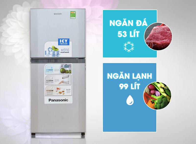 Vượt trội ở thiết kế đẳng cấp với tủ lạnh Panasonic NR-BM179SSVN 152 lít