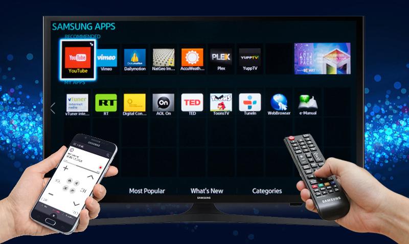 Điều khiển tivi Samsung UA50J5200 bằng điện thoại với ứng dụng Smart View