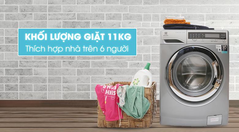 Thiết kế thẩm mỹ với Máy giặt Electrolux 11 kg EWF14113S