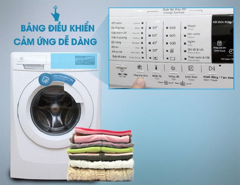Đa dạng chương trình giặt với máy giặt Electrolux lồng ngang EWF10744
