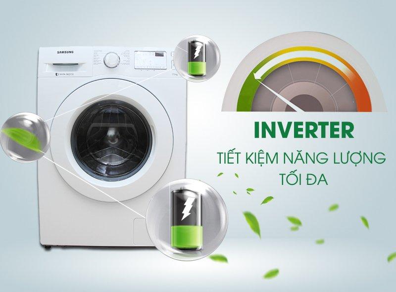 Công nghệ Inverter tiết kiệm điện Máy giặt lồng ngang EWF12935S