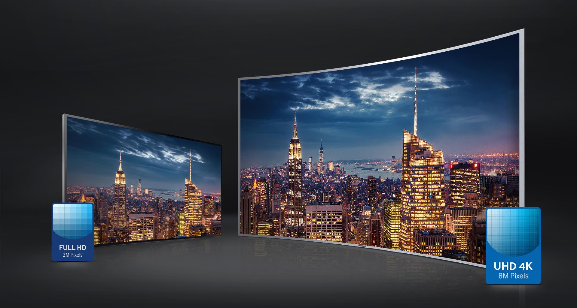 Tivi UA65JS9500 có độ phân giải cao gấp 4 lần chuẩn Full HD