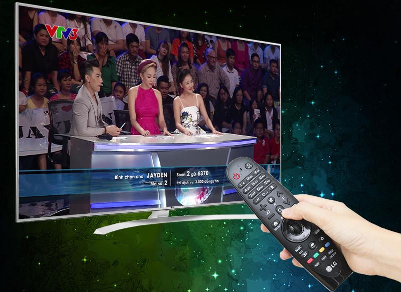 Tích hợp DVB-T2 trên tivi LG 65UH770T thu được nhiều kênh kỹ thuật số miễn phí không cần đầu thu