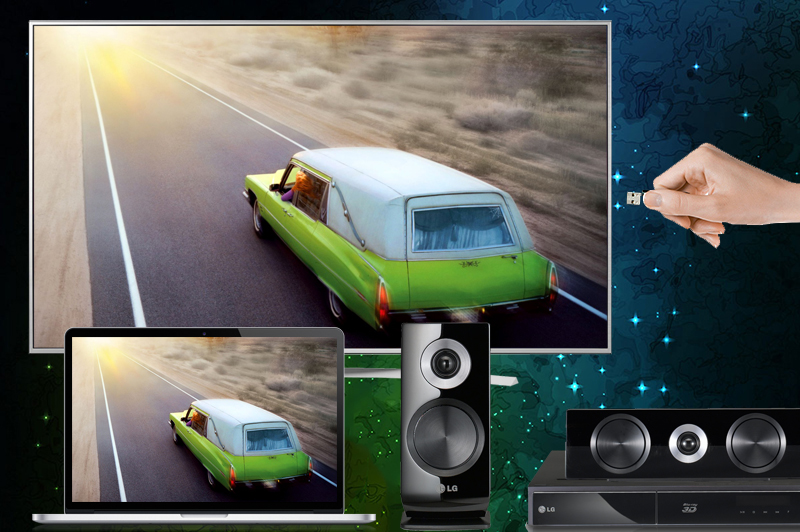 Kết nối tivi LG 65UH770T với USB, dàn máy, đầu đĩa, laptop...